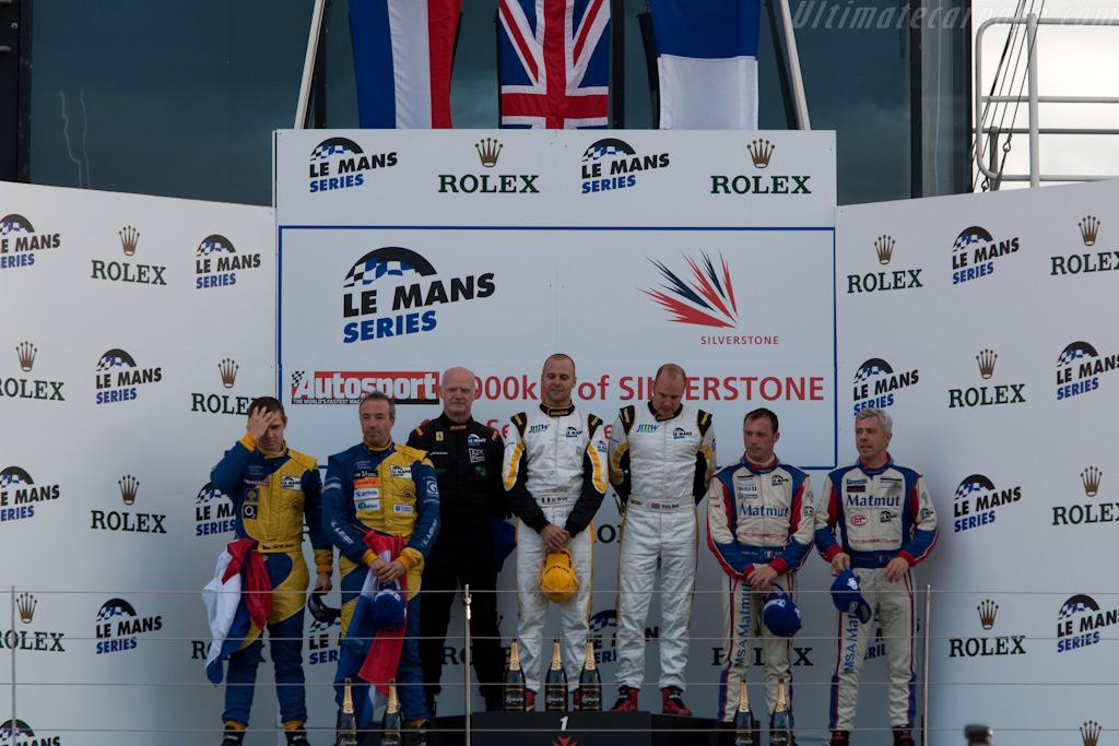 GT2 podium    - 2009 Le Mans Series Silverstone 1000 km