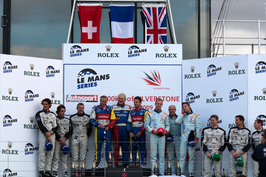 LMP1 podium    - 2009 Le Mans Series Silverstone 1000 km