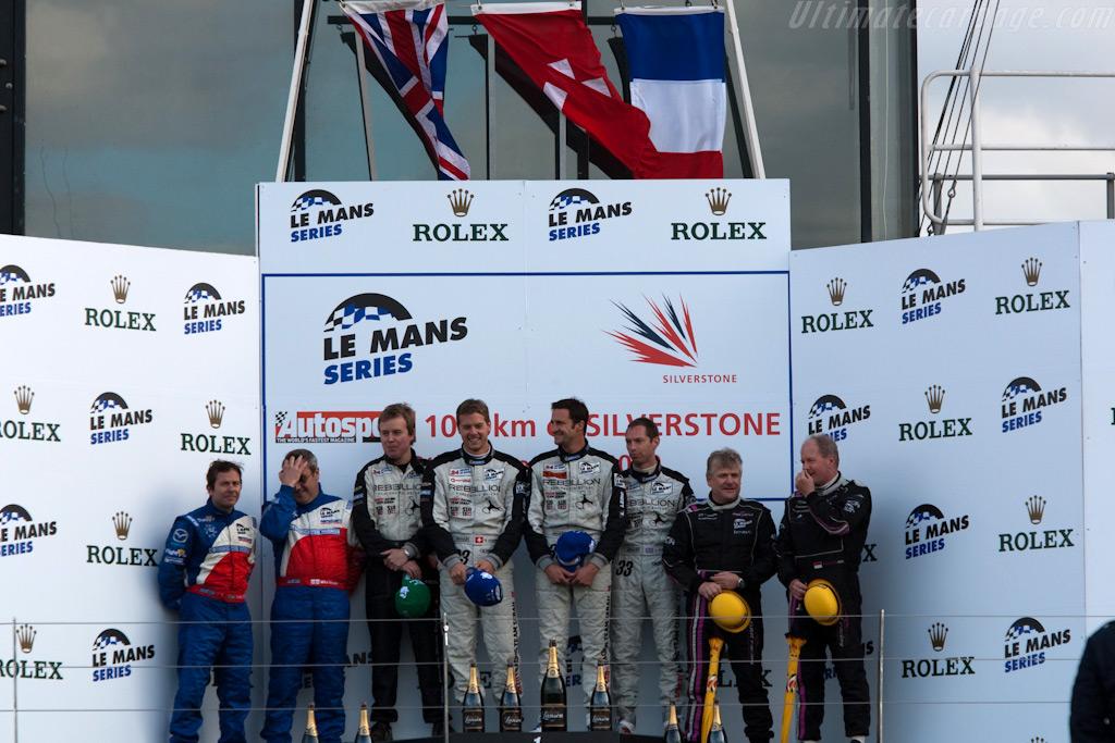 LMP2 podium    - 2009 Le Mans Series Silverstone 1000 km