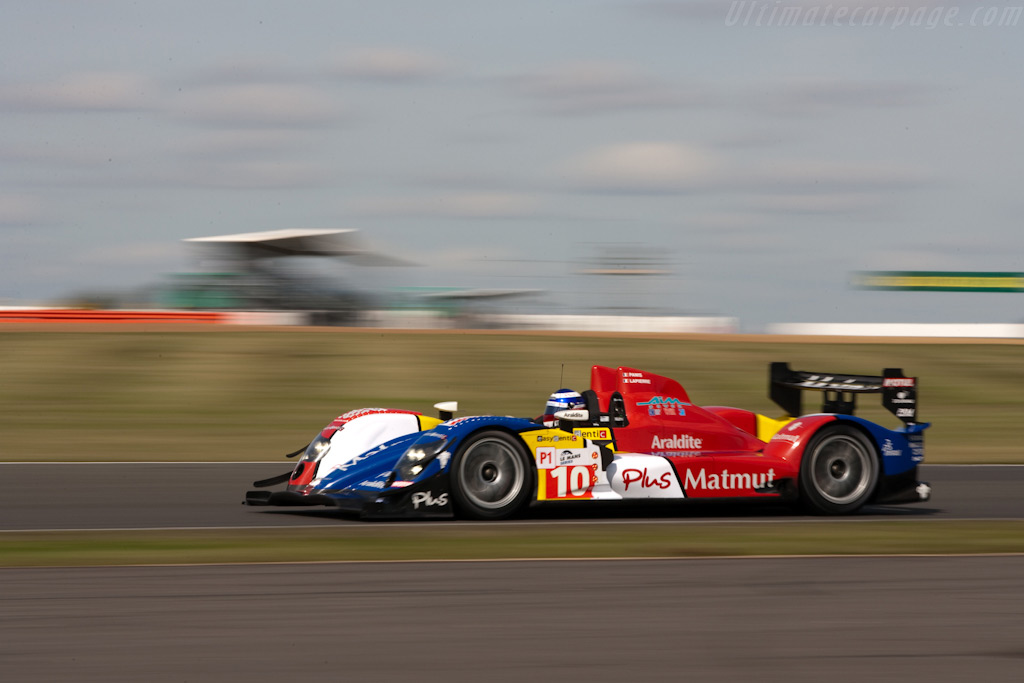 Olivier Panis in the ever improving Oreca - Chassis: 03   - 2009 Le Mans Series Silverstone 1000 km