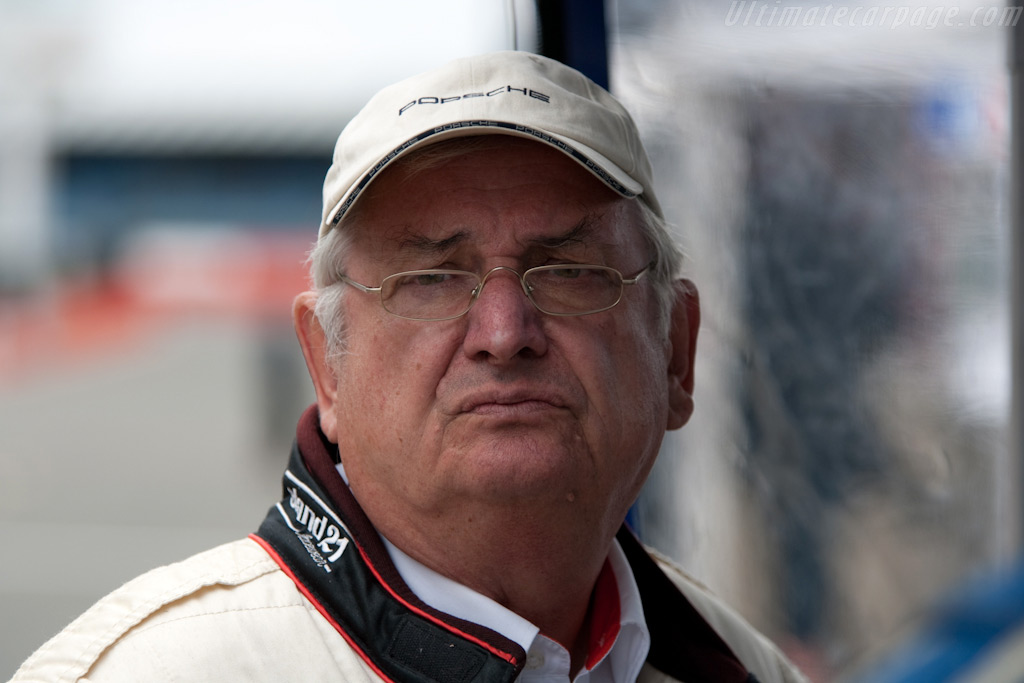 Porsche legend Norbert Singer    - 2009 Le Mans Series Silverstone 1000 km