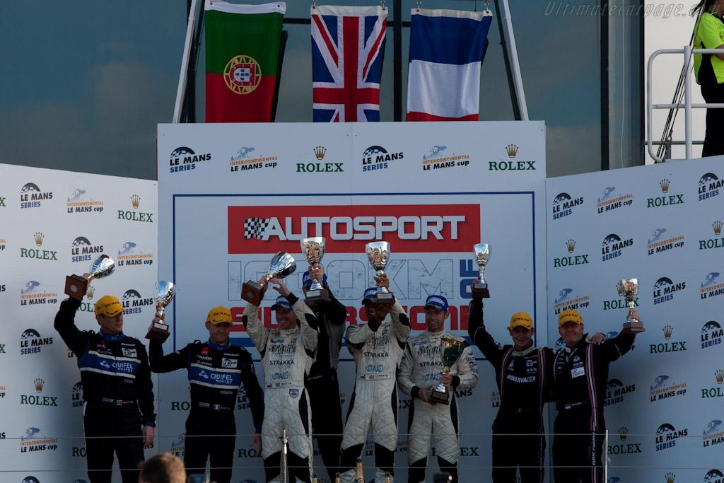LMP2 podium    - 2010 Le Mans Series Silverstone 1000 km (ILMC)