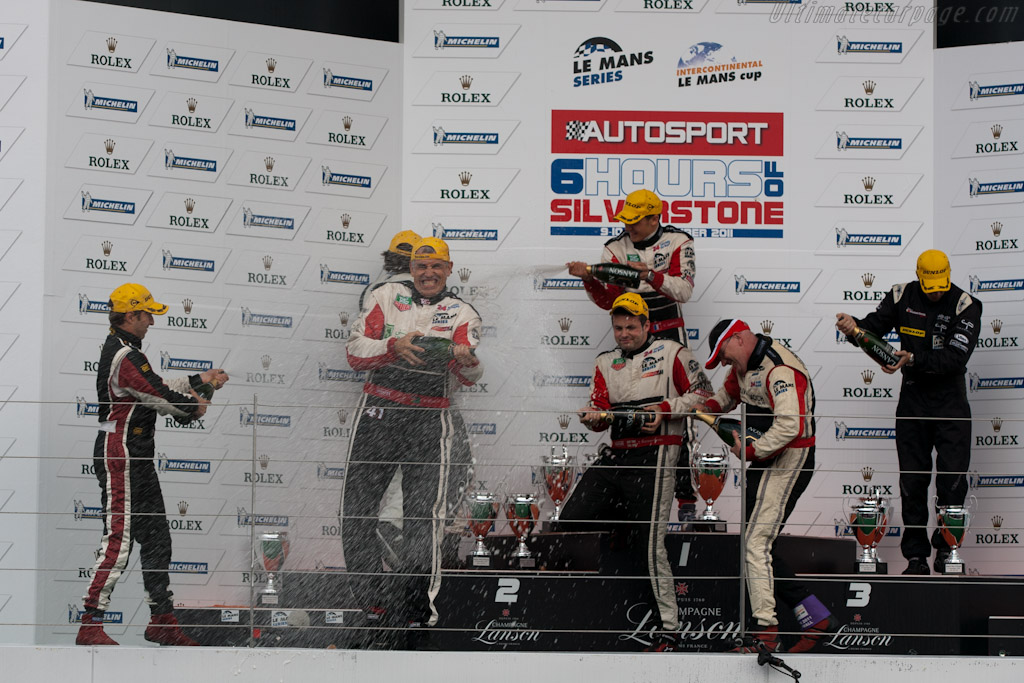 LMP2 podium    - 2011 Le Mans Series 6 Hours of Silverstone (ILMC)