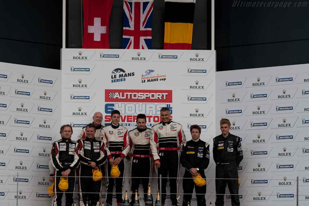 LMP2 podium    - 2011 Le Mans Series 6 Hours of Silverstone (ILMC)