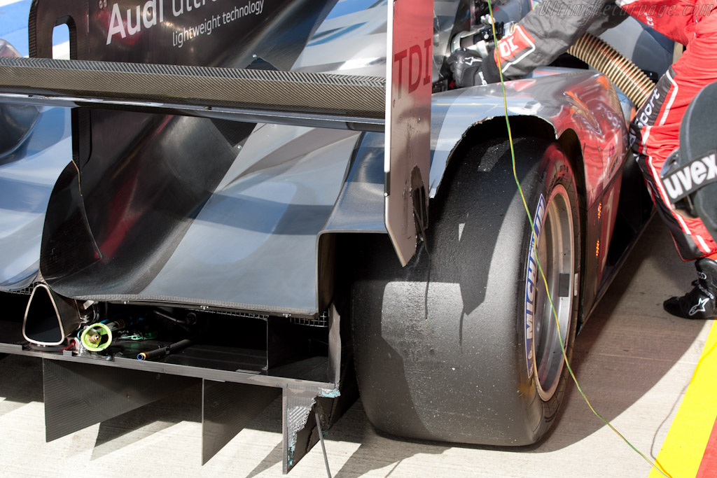Rear-end damage - Chassis: 103   - 2011 Le Mans Series 6 Hours of Silverstone (ILMC)