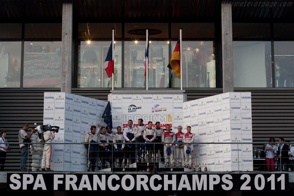 LMP1 Podium    - 2011 Le Mans Series Spa 1000 km (ILMC)