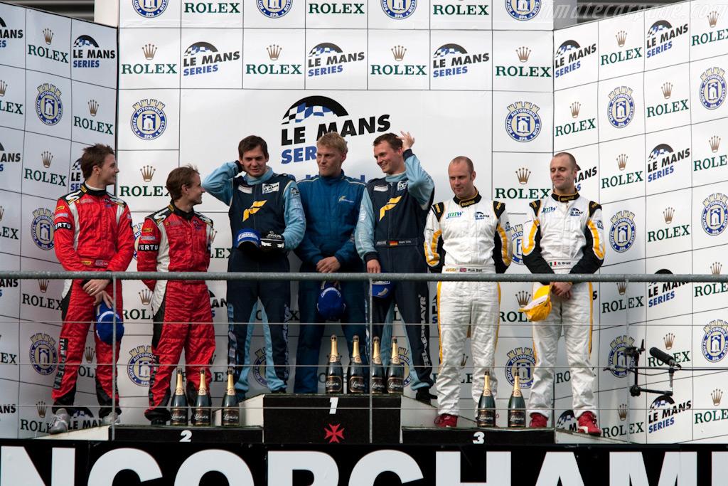GT2 podium    - 2009 Le Mans Series Spa 1000 km