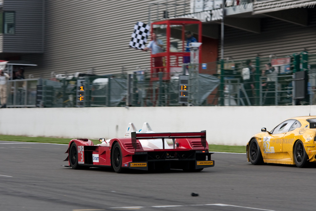 Giovanni takes the flag for the first time - Chassis: 1   - 2009 Le Mans Series Spa 1000 km