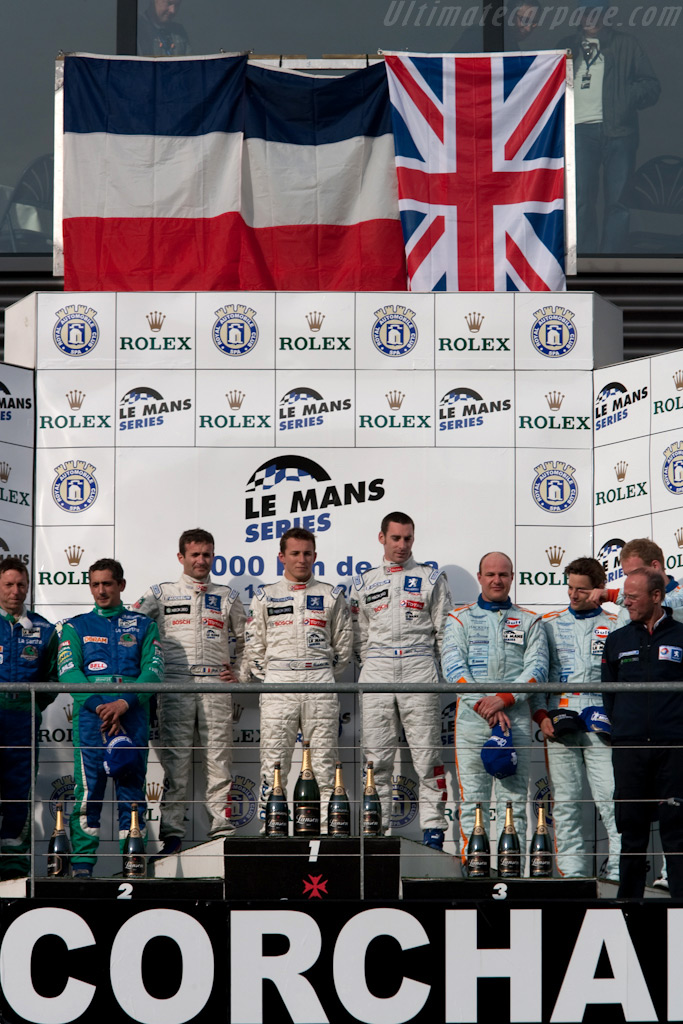 LMP1 podium    - 2009 Le Mans Series Spa 1000 km