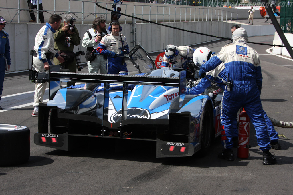 Peugeot stop - Chassis: 908-04   - 2009 Le Mans Series Spa 1000 km