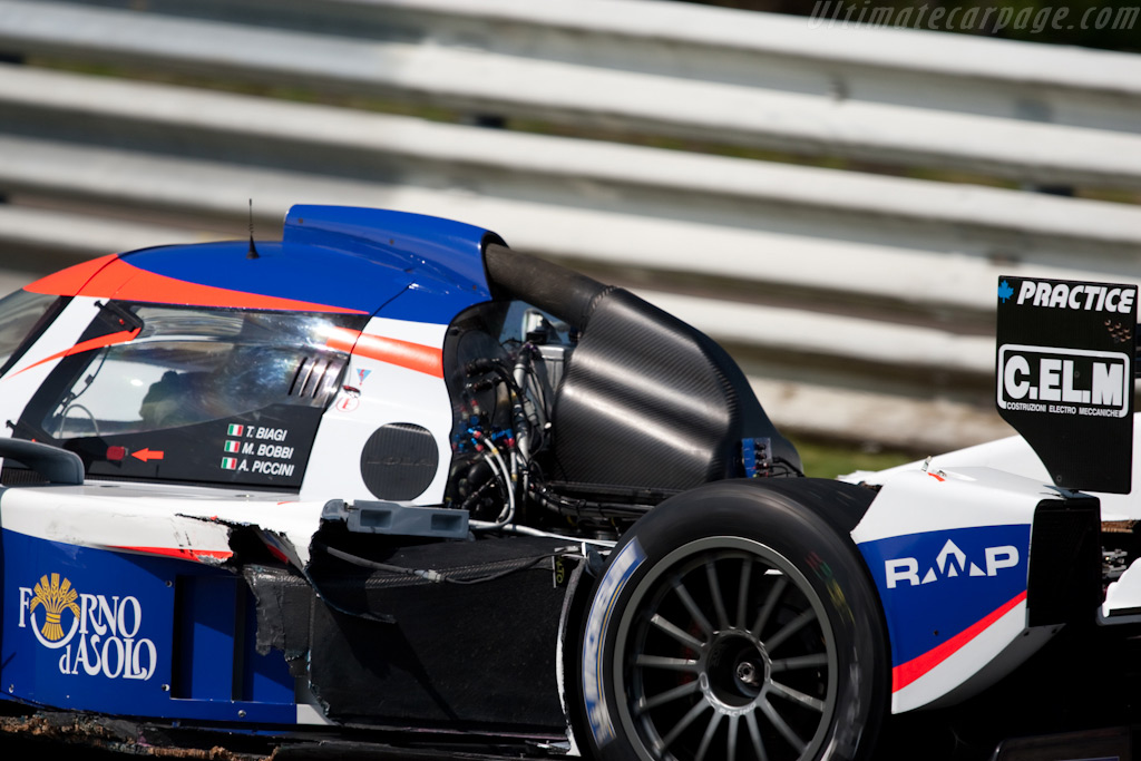 The remains of the Lola - Chassis: B0880-HU04   - 2009 Le Mans Series Spa 1000 km