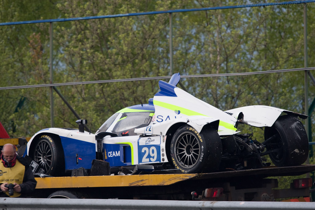 First lap victim - Chassis: B0980-HU05   - 2010 Le Mans Series Spa 1000 km