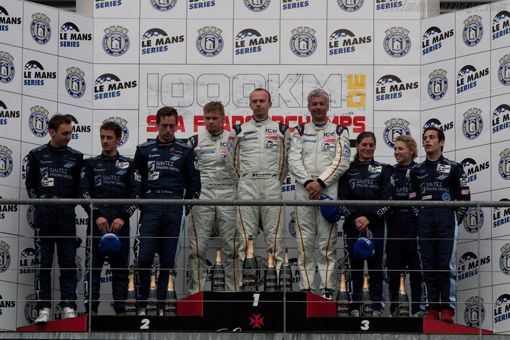 GT1 Podium    - 2010 Le Mans Series Spa 1000 km