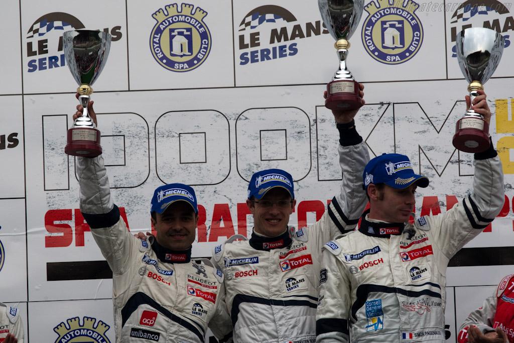 Lamy, Bourdais and Pagenaud    - 2010 Le Mans Series Spa 1000 km