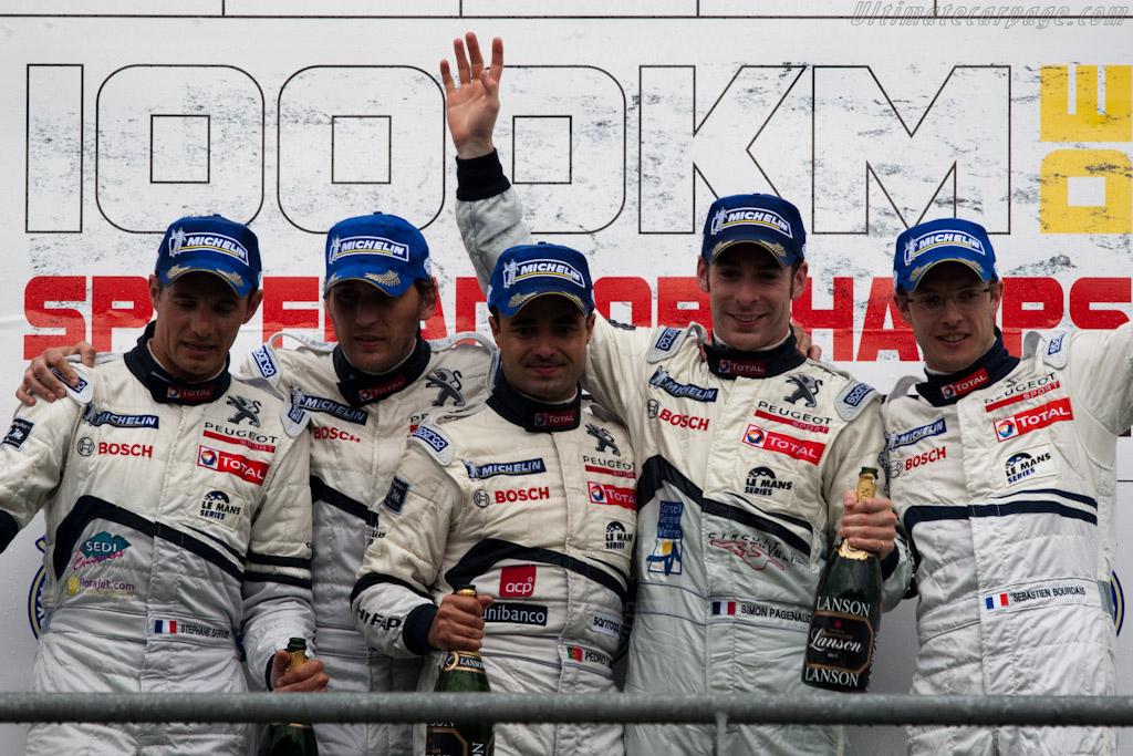 Peugeot drivers    - 2010 Le Mans Series Spa 1000 km