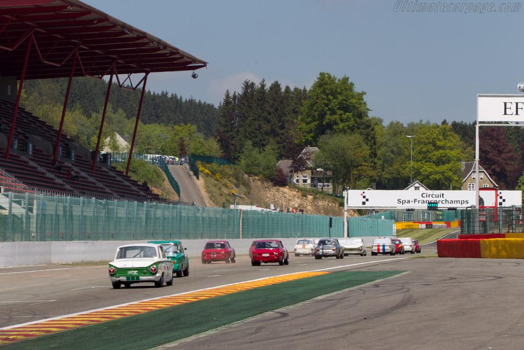 Lotus Cortina  - Driver: Grant Tromans / Richard Meaden  - 2014 Spa Classic