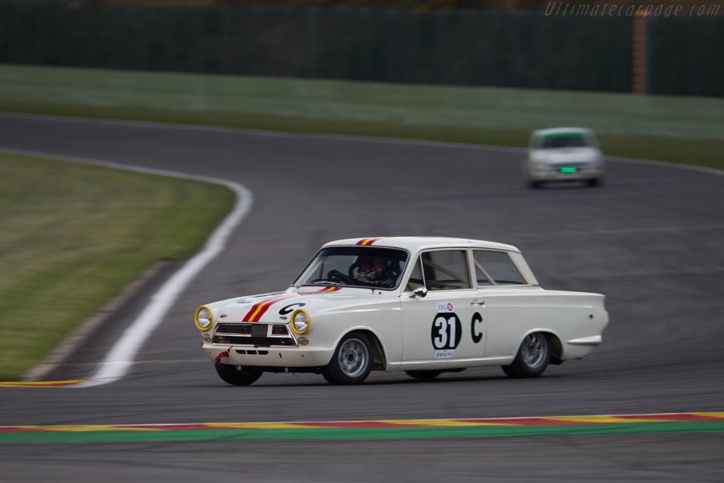 Lotus Cortina  - Driver: Shaun Lynn  - 2014 Spa Classic