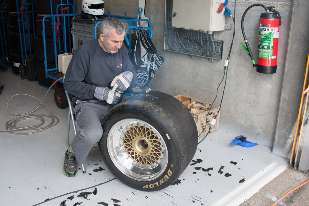 Preparing the tyres    - 2014 Spa Classic