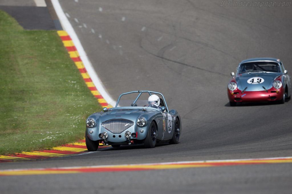 Austin Healey 100/4  - Driver: Olivier Blanpain / Vincent Janssens  - 2015 Spa Classic