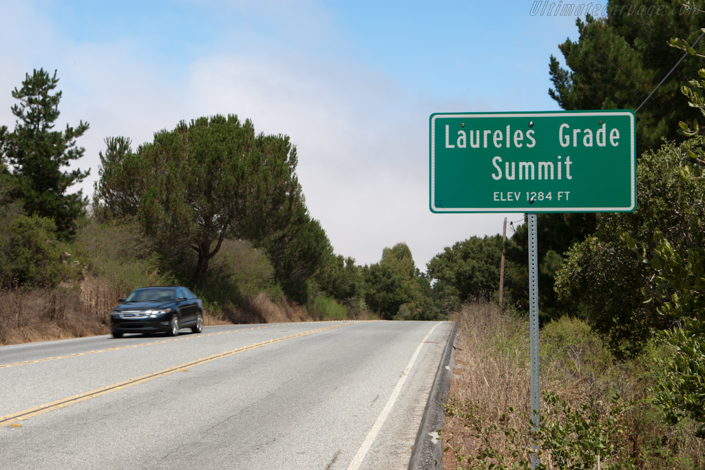 At the summit of Laureles Grade   - Ford Taurus SHO on Highway 1