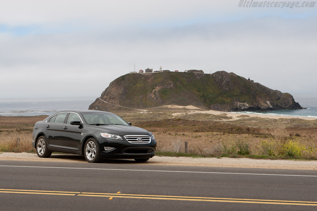 Lighthouse at Point Sur    - Ford Taurus SHO on Highway 1