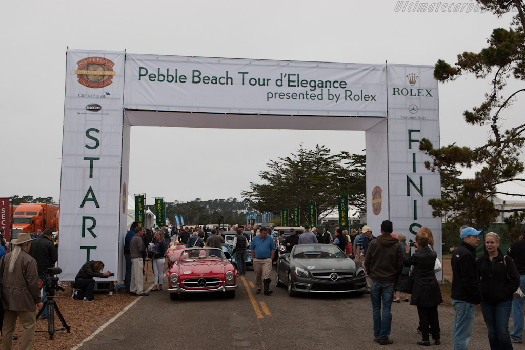 Lining up for the Tour    - 2012 Pebble Beach Concours d'Elegance