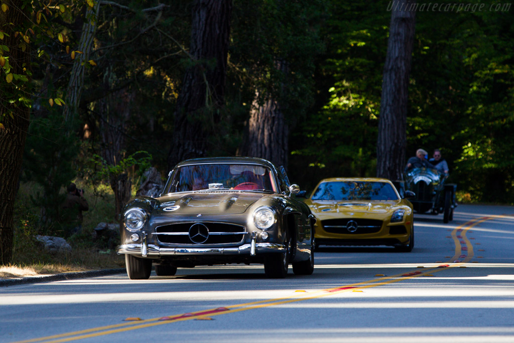 Sir Stirling and Lady Susie Moss lead the way  - Driver: Sir Stirling Moss  - 2013 Pebble Beach Concours d'Elegance