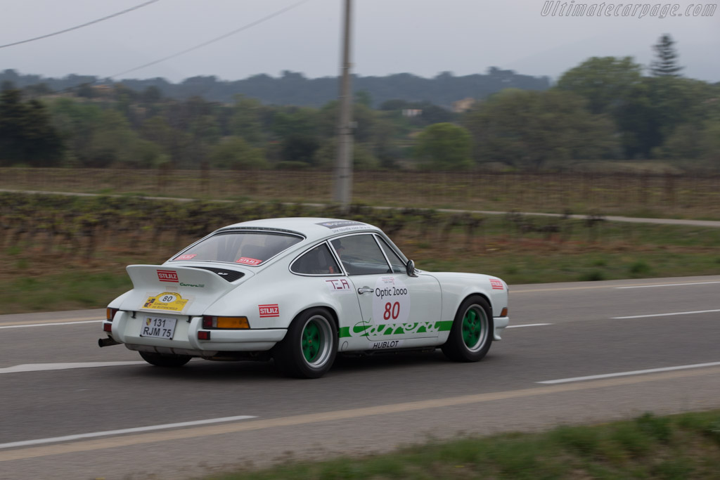 Porsche 911 Carrera RS 2.7 - Chassis: 911 360 1181 - Driver: Philippe Rouer / Didier Henard  - 2014 Tour Auto