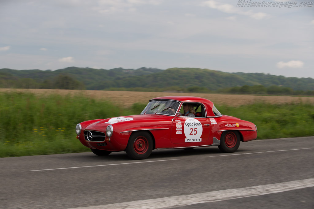 Mercedes-Benz 190 SL - Chassis: 121.042.10.025855 - Driver: Patricia Poelaert  - 2015 Tour Auto