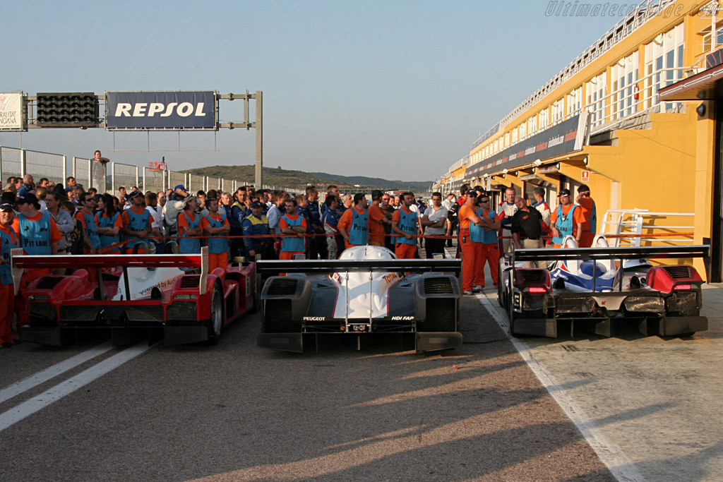 The Winners - Chassis: 908-03 - Entrant: Team Peugeot Total  - 2007 Le Mans Series Valencia 1000 km