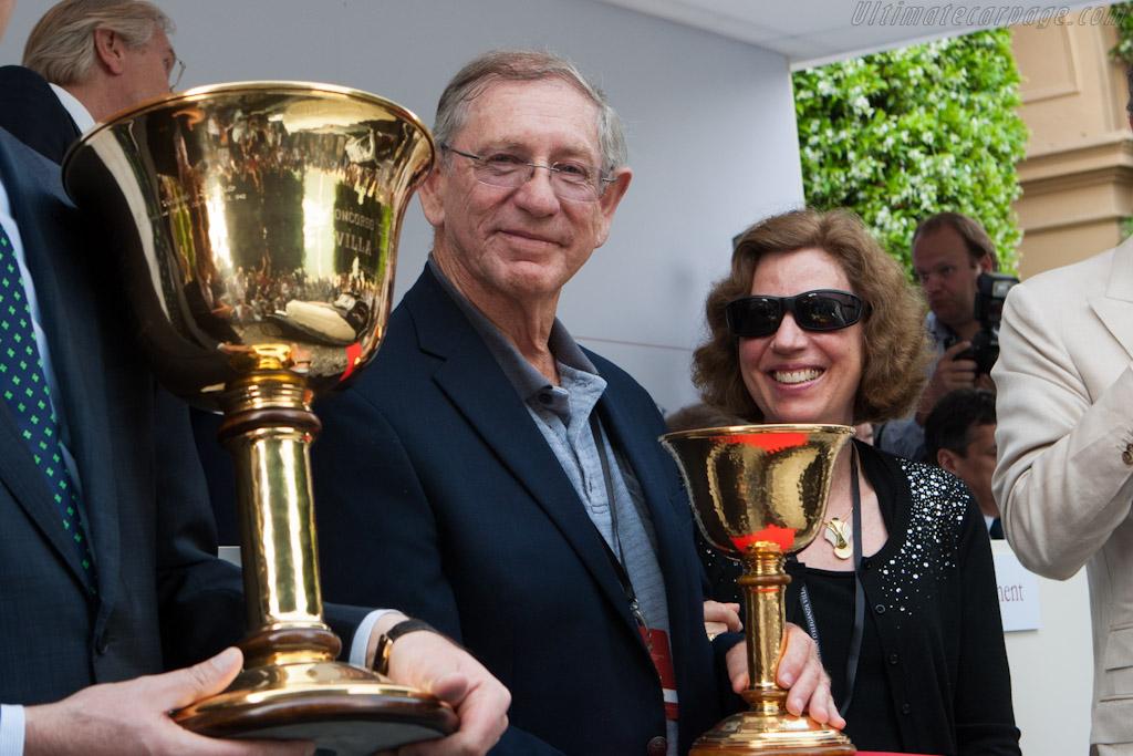 David & Adele Cohen with the Copa d'Oro    - 2012 Concorso d'Eleganza Villa d'Este