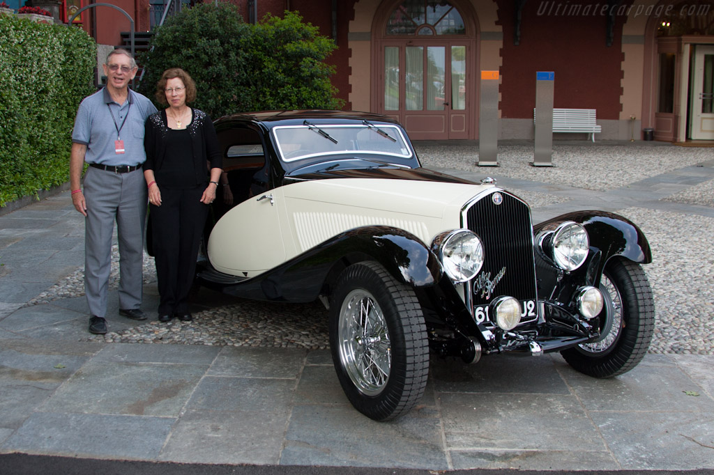 David & Adele Cohen with their Alfa Romeo    - 2012 Concorso d'Eleganza Villa d'Este