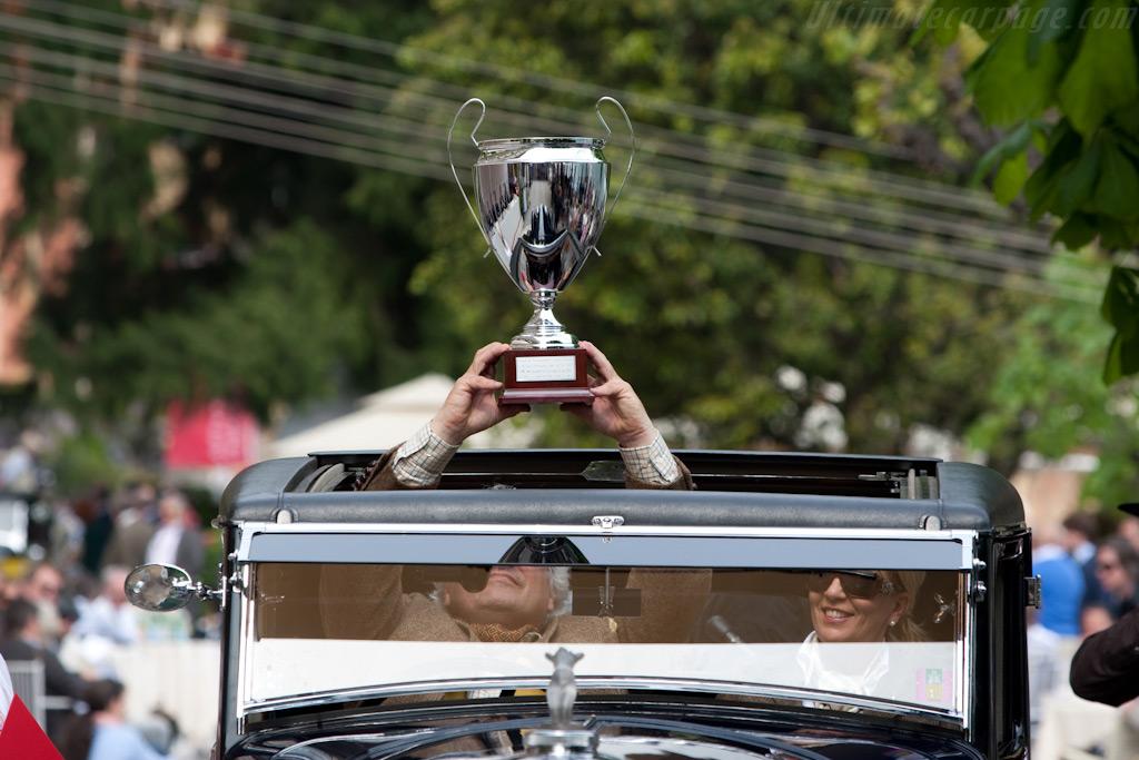 Frans van Haren with the Trofeo Automobile Club di Como - Chassis: YR5088   - 2009 Concorso d'Eleganza Villa d'Este