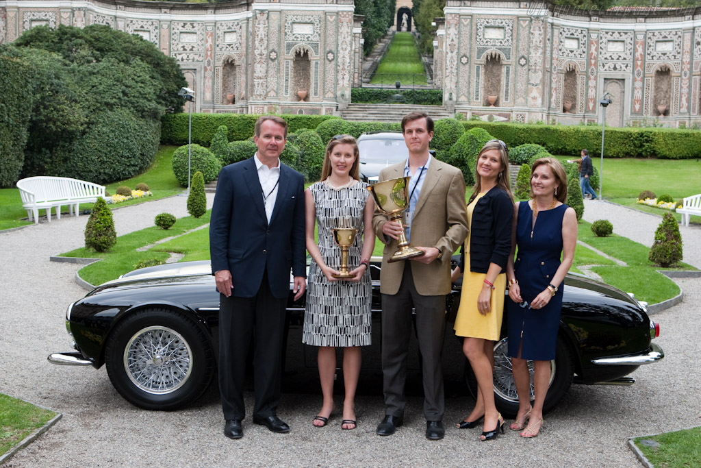 The Bookout family with the Coppa d'Ora    - 2010 Concorso d'Eleganza Villa d'Este