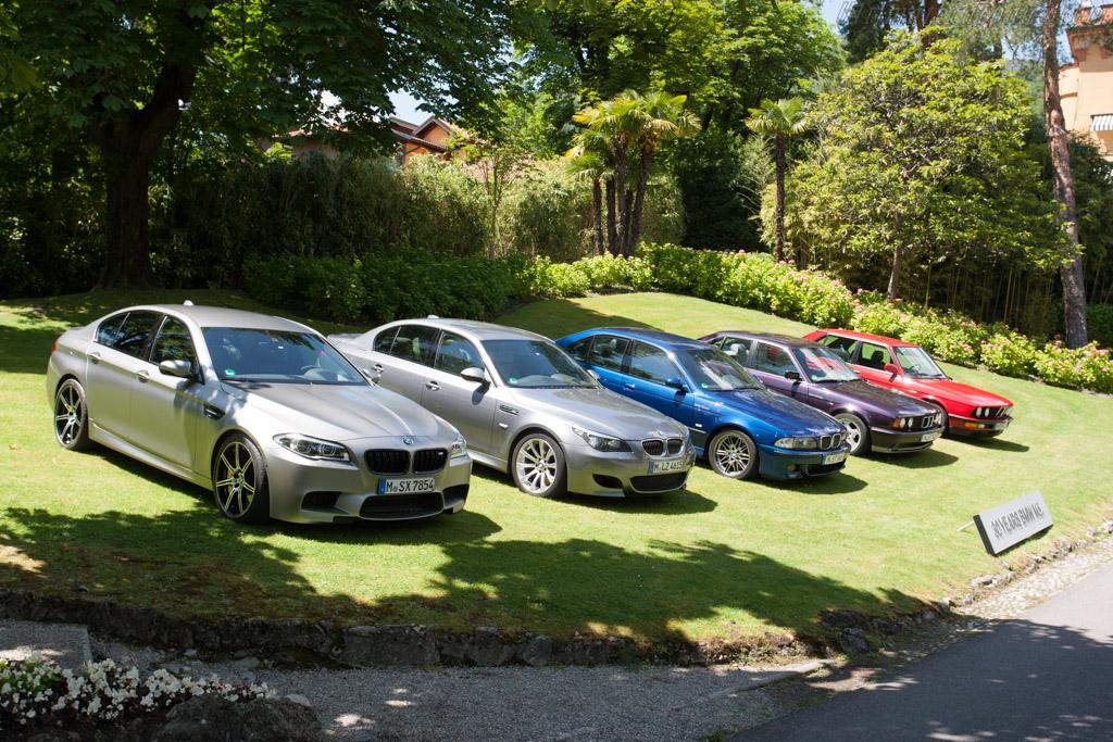 Five generations M5  - Entrant: BMW Group  - 2014 Concorso d'Eleganza Villa d'Este