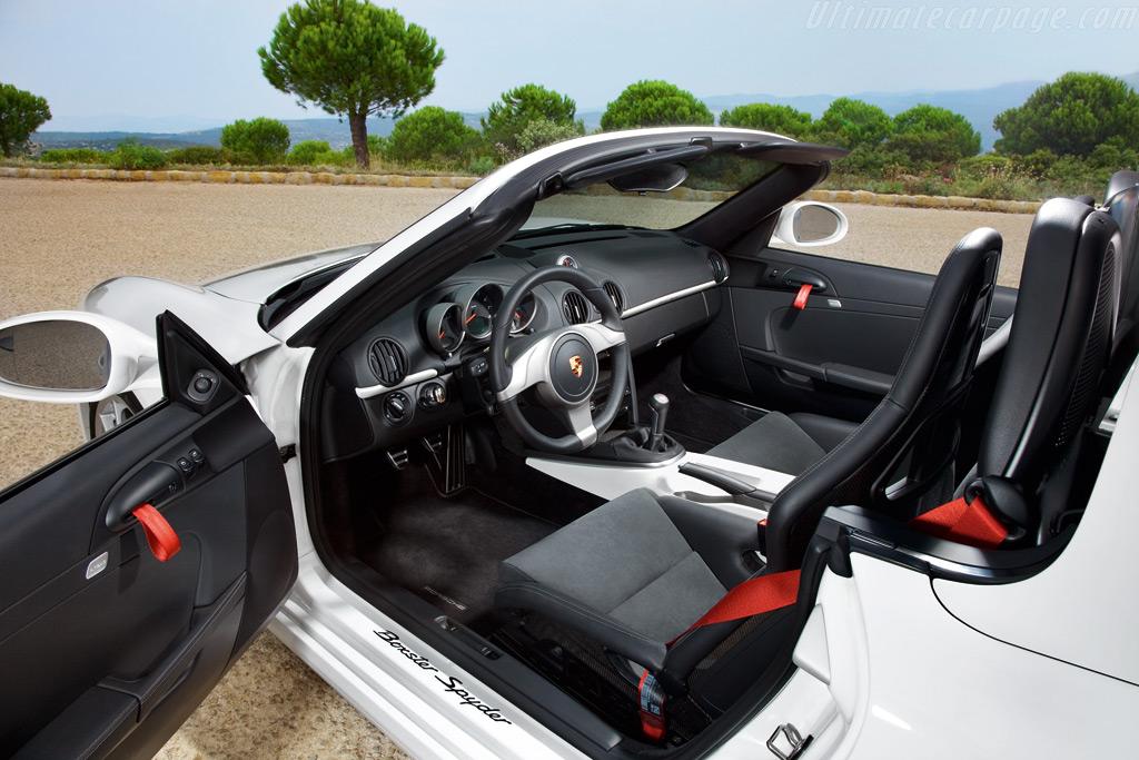 Porsche Boxster Spyder. because the Boxster Spyder