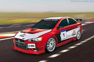 Click here to open the Mitsubishi Lancer EVO X Race Car gallery
