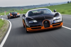 Two world speed record cars at the Nuerburgring